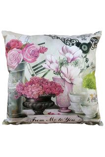 Подушка Парижские цветы GiftnHome