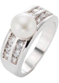 Кольцо Жемчужина (серебристый/цвет шампанского) Bonprix