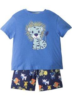 Пижама с шортами (2 изд.) (ледниково-синий/полуночная синь) Bonprix