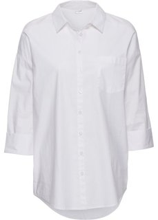 Рубашка оверсайз (белый) Bonprix