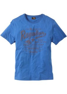 Традиционная футболка с коротким рукавом (синий) Bonprix