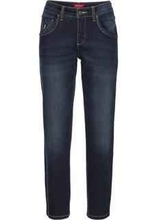 Прямые стрейтчевые джинсы длины 7/8, cредний рост (N) (темно-синий) Bonprix