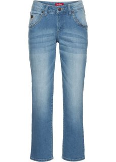 Прямые стрейтчевые джинсы длины 7/8, cредний рост (N) (голубой) Bonprix
