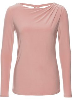 Футболка с длинным рукавом (винтажно-розовый) Bonprix