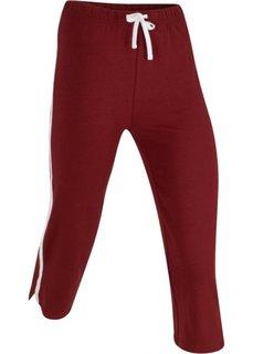 Спортивные брюки капри с эффектом стретч (красный каштан) Bonprix