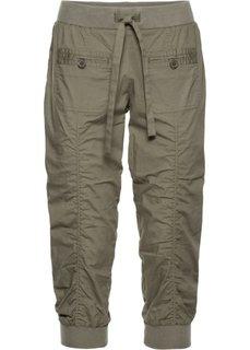 Удобные брюки-капри (оливковый) Bonprix