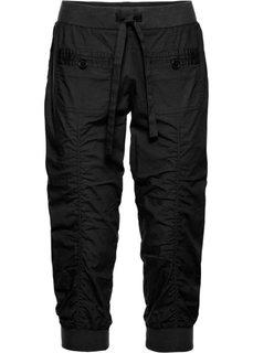 Удобные брюки-капри (черный) Bonprix