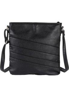 Базовая сумка на ремне через плечо (черный) Bonprix