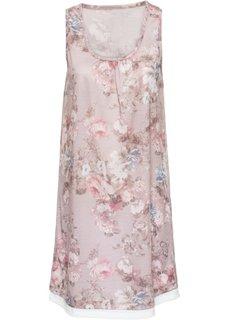 Трикотажное платье (бежевый в цветочек) Bonprix