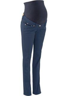 Для будущих мам: стройнящие брюки с прямыми брючинами (темно-синий) Bonprix