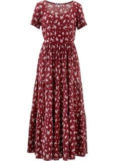 Платье с коротким рукавом (бордовый в цветочек) Bonprix