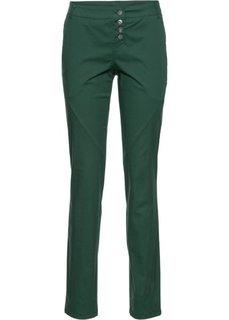 Брюки-стретч Loose Fit (темно-зеленый) Bonprix
