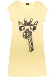 Ночная рубашка в стиле футболки (нежно-желтый с жирафом) Bonprix