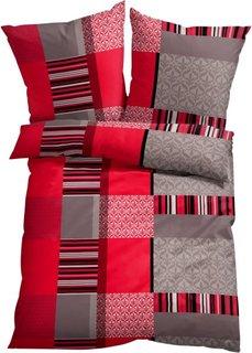 Постельное белье Матис, линон (красный) Bonprix