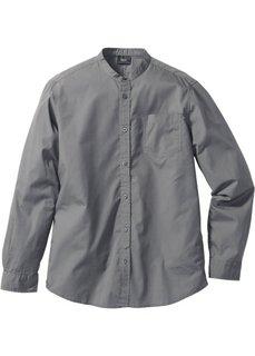 Рубашка Regular Fit с длинными рукавами (серый) Bonprix