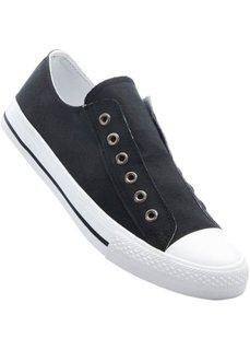 Кеды без шнурков (черный) Bonprix