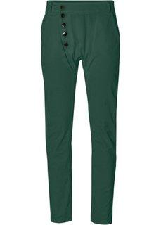 Хлопчатобумажные брюки-стретч (темно-зеленый) Bonprix