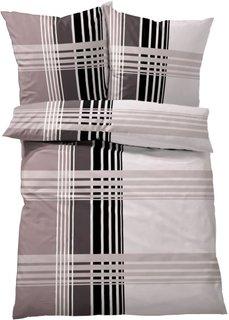 Постельное белье Милано, линон (черный/белый) Bonprix