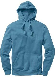 Толстовка стандартного прямого кроя regular fit с капюшоном (синий) Bonprix