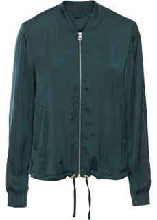 Куртка-бомбер из сатина (петролевый) Bonprix