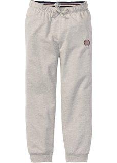 Трикотажные брюки длины 7/8 (светло-серый меланж/кленово-красный с рисунком) Bonprix