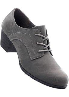 Туфли на шнурках (темно-серый) Bonprix