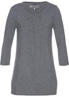 Удлиненная туника с карманами (серый меланж) Bonprix