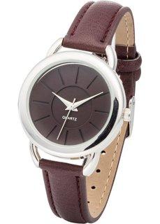 Наручные часы (темно-красный/серебристый) Bonprix