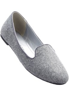Балетки (серый меланж) Bonprix
