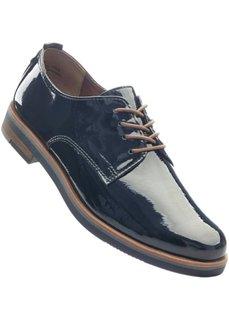 Туфли на шнуровке (темно-синий) Bonprix