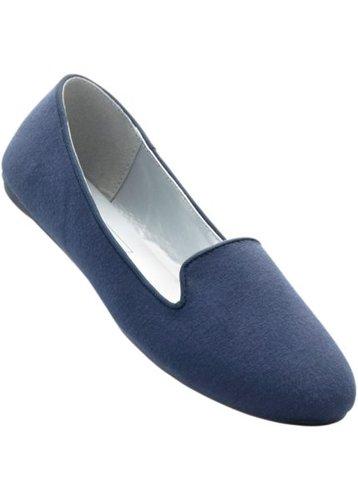 Балетки, широкая стопа (темно-синий меланж)