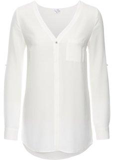 Блузка с длинным рукавом (кремовый) Bonprix