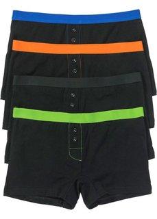 Женские трусики-боксеры (4 шт.) (черный) Bonprix