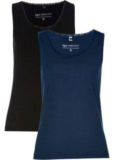 Топ (2 шт.) (темно-синий + черный) Bonprix