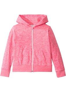 Трикотажная куртка меланжевой расцветки (ярко-розовый меланж) Bonprix