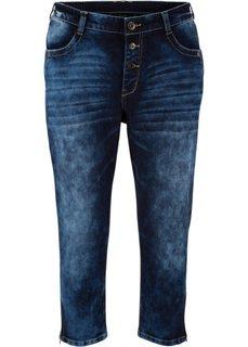 Стрейчевые джинсы-бойфренды 3/4 (темный деним) Bonprix