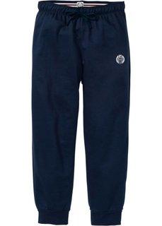 Трикотажные брюки длины 7/8 (темно-синий с рисунком) Bonprix