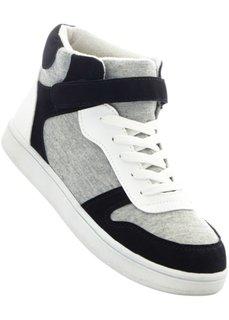 Высокие кеды (белый/черный/светло-серый) Bonprix