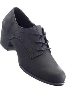 Туфли на шнурках (черный) Bonprix