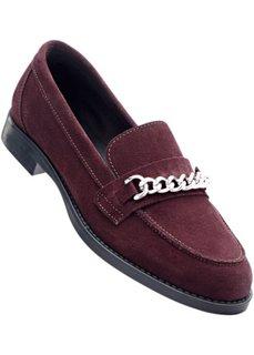 Кожаные туфли (бордовый) Bonprix