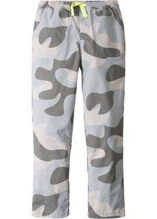 Прочные быстросохнущие брюки-чиносы с эластичным поясом (серый с камуфляжным рисунком) Bonprix