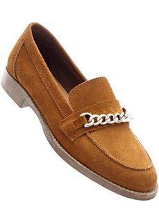 Кожаные туфли (коричневый) Bonprix