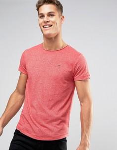 Красная меланжевая футболка с логотипом-флажком Tommy Hilfiger Denim - Красный