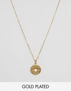 Ожерелье с символом сердечной чакры Ottoman Hands - Золотой