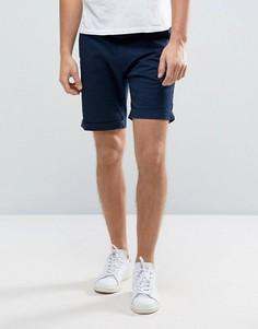Эластичные шорты чиносы слим Selected Homme - Темно-синий