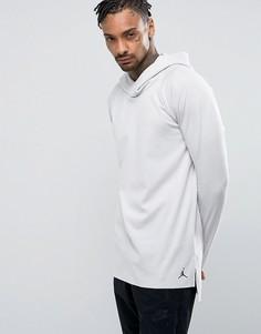 Худи серого цвета с рукавами реглан Nike Jordan Lux 834541-072 - Бежевый