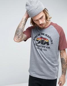 Серая футболка с рукавами реглан Element Vista - Серый