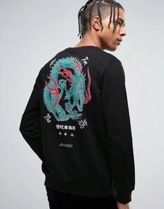 Свитер с драконом на спине Bando - Черный Ban.Do