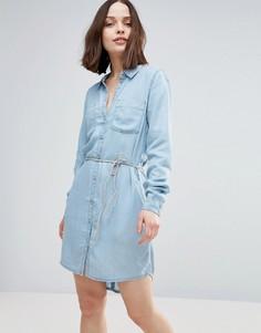 Джинсовое платье-рубашка Only Henna - Синий