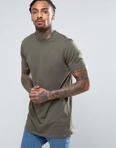 Длинная футболка цвета хаки New Look - Зеленый